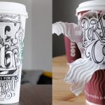 Hand Lettered Coffee Cups by Rob Draper