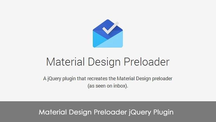 Material Design Preloader jQuery Plugin 1