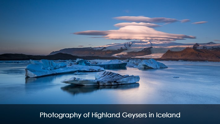 Photography of Highland Geysers in Iceland
