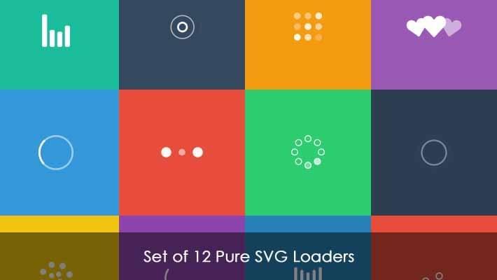 Set of 12 Pure SVG Loaders