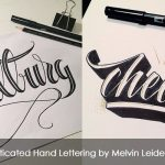 Sophisticated Hand Lettering by Melvin Leidelmeijer