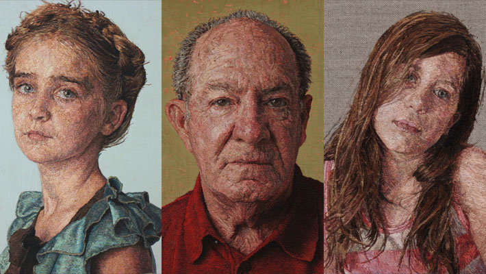 Stunning Embroidered Portraits by Cayce Zavaglia