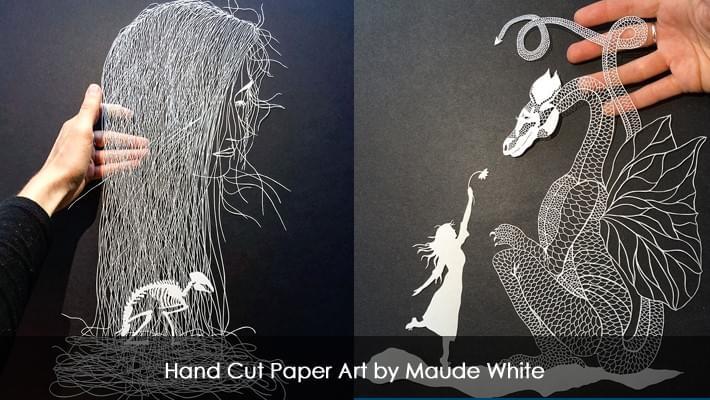 Wonderful Hand Cut Paper Art by Maude White