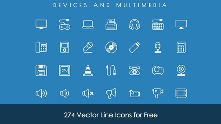 274 free vector line icons