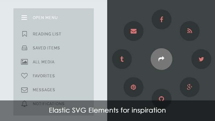 Elastic SVG Elements for Inspiration