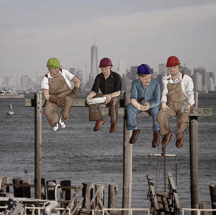 Eliska Adds Humorous Illustrations to Photos of New York