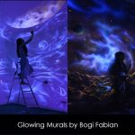 Glowing Murals to Create Dreamy Atmosphere by Bogi Fabian