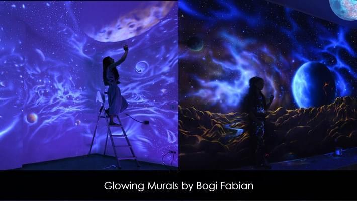 Glowing Murals to Create Dreamy Atmosphere by Bogi Fabian