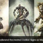 Hellandbrand Recreated Zodiac Signs as Monsters