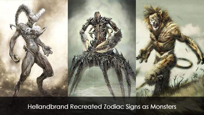 Hellandbrand Recreated Zodiac Signs as Monsters