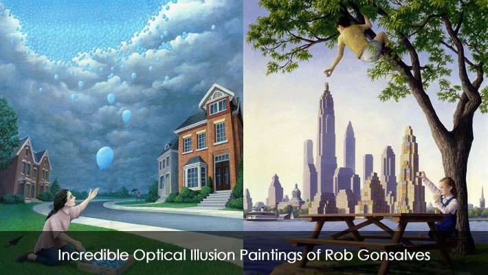 Incredible Optical Illusion Paintings of Rob Gonsalves
