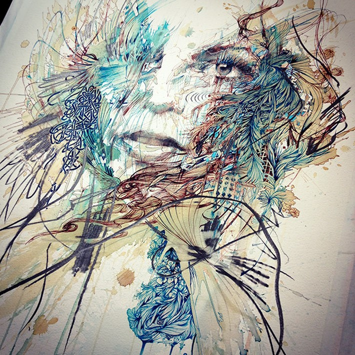 Ink and Tea Portraits at London Art Fair