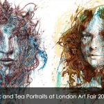 Ink and Tea Portraits at London Art Fair 2015