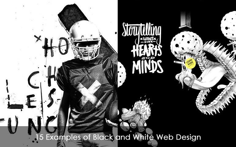 15 Examples of Black and White Web Design