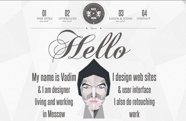 Examples of Black and White Web Design