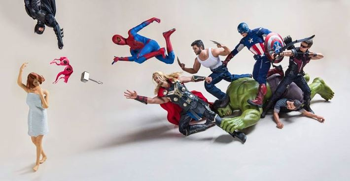Amusing Action of Superheroes in Not So Super Conditions
