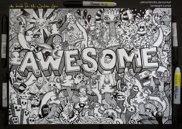 Creative Doodle Art Of Lei Melendres