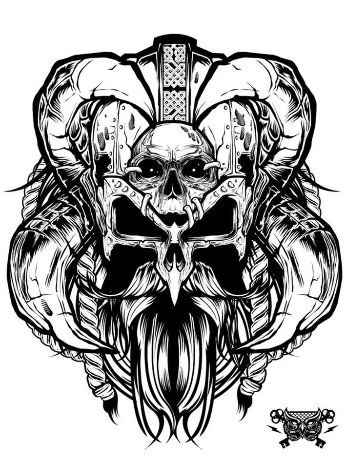 Awesome Grayscale Vector Illustration By Joshua M Smith