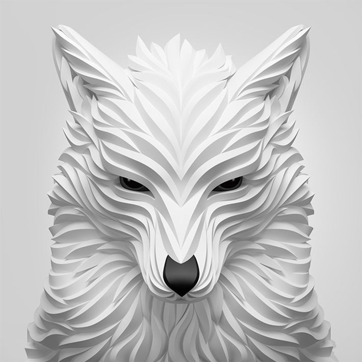 Brilliant Digital Art Wolf and Hoof