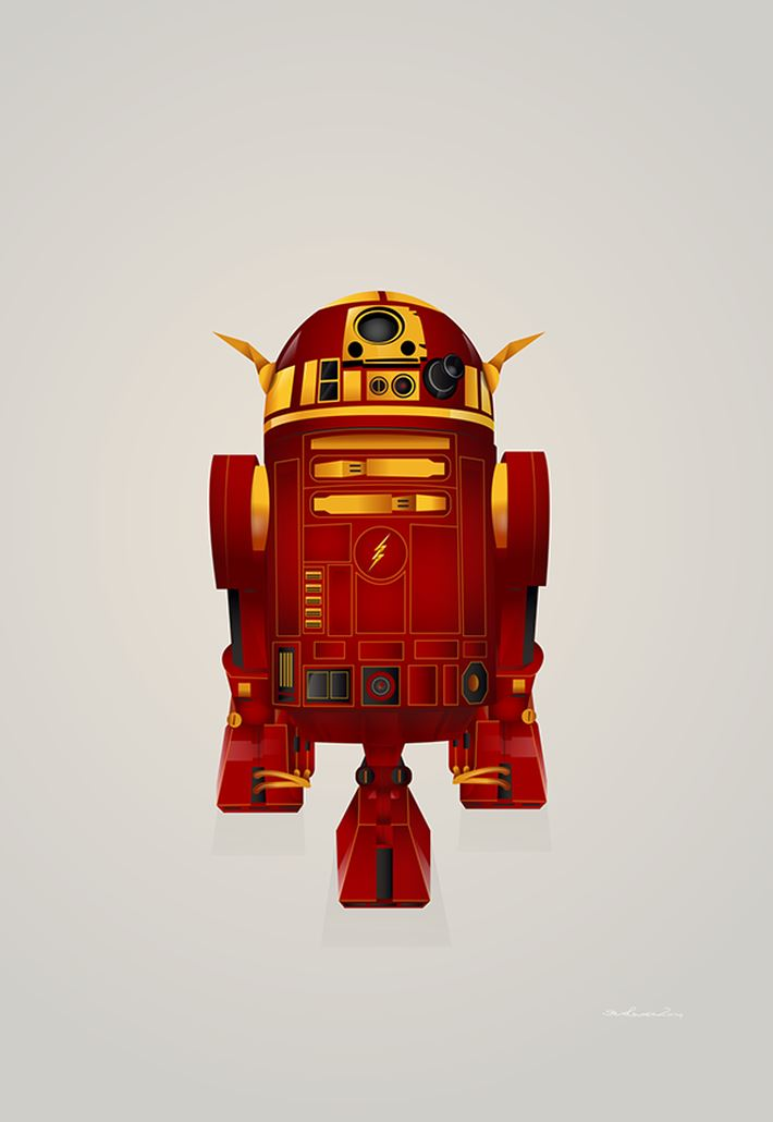 Droid R2-D2 Flash Digital Art by Steve Berrington