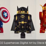 Droid R2-D2 Superheroes Digital Art by Steve Berrington