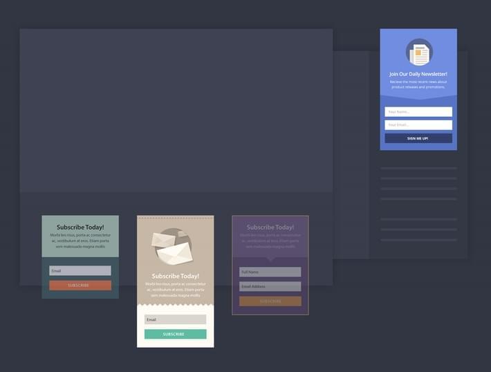 email opt-in plugin bloom widgets-mocks