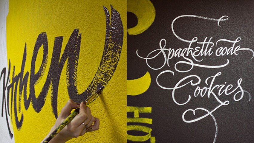 Hand Lettered Wall Painting