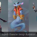Superb Character Design Illustration