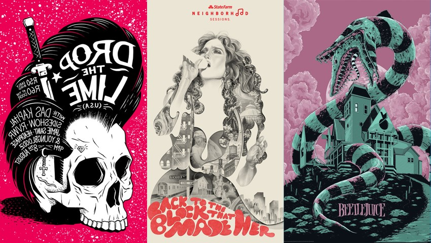 Awesome Gig Poster Designs