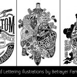 Rad Lettering Illustrations