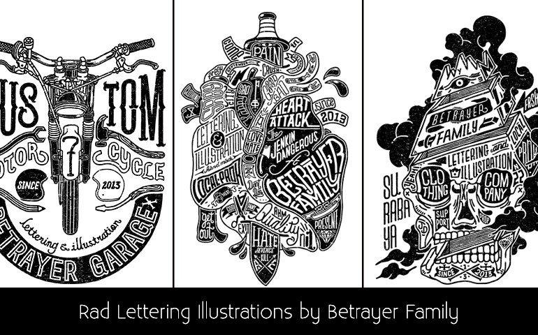 Rad Lettering Illustrations