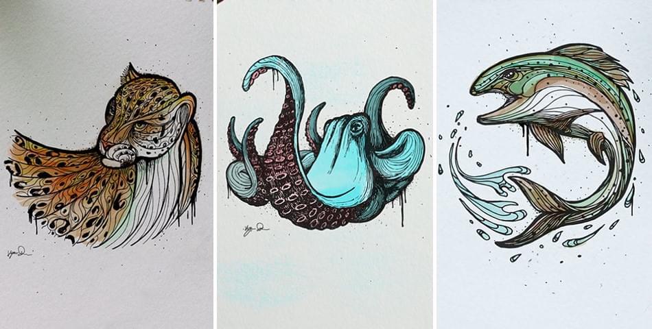 Brilliant Animal Alphabet Illustrations