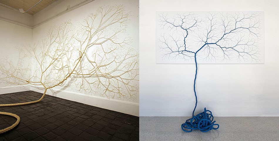 Untwisted Ropes Sculptures