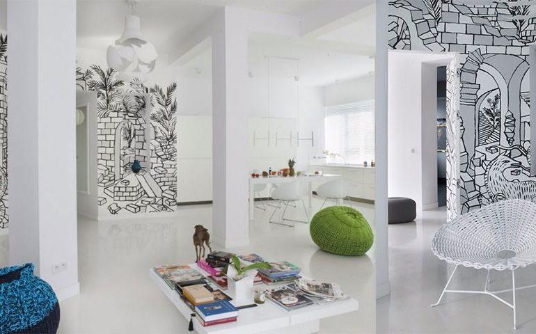 Creative Wall Mural that Enhanced Your Apartment Interior