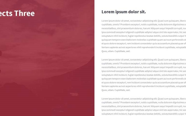 Split 2 Blocks Template with CSS and JQuery