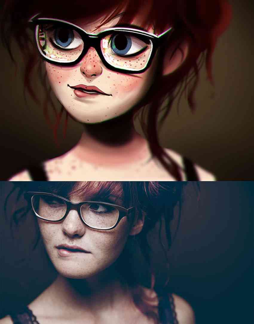 Digital Art Paintings of Random People into fun illustrations