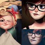 Digital Art Paintings of Random People
