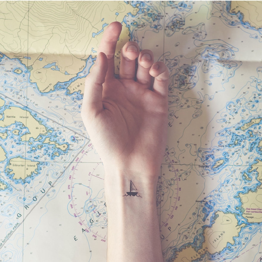 Miniature Tattoos With Matching Backgrounds