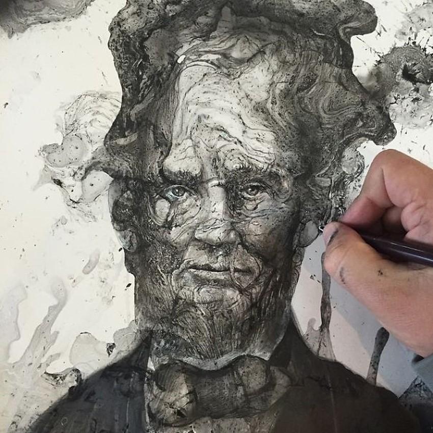 Splash Ink paintings Chaos