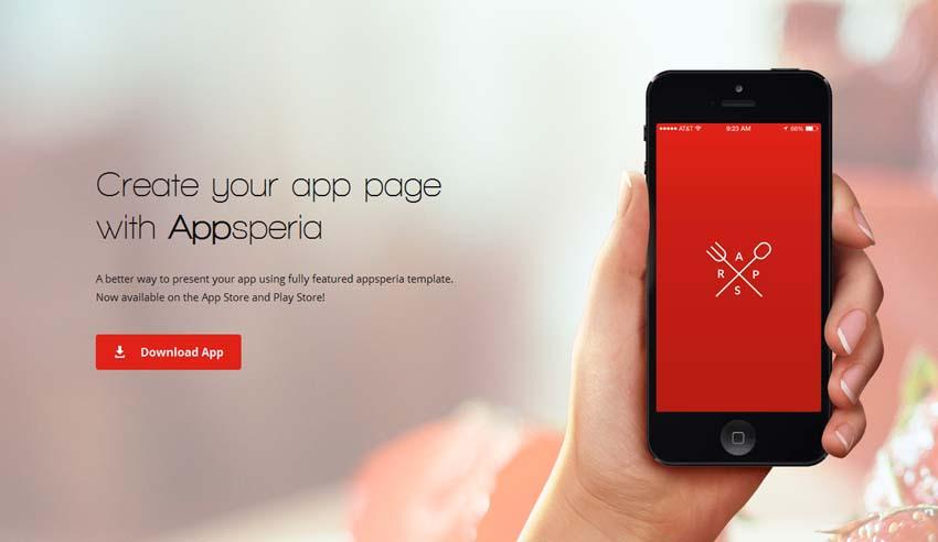 AppSperia - App Landing Page