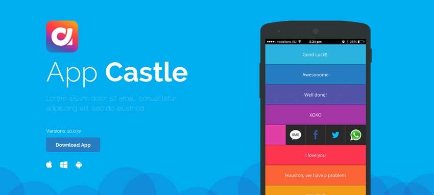 Castle - HTML Landing Template