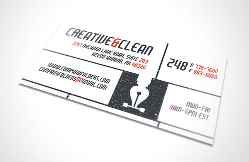 Creative & Clean Folder and Business Card Template