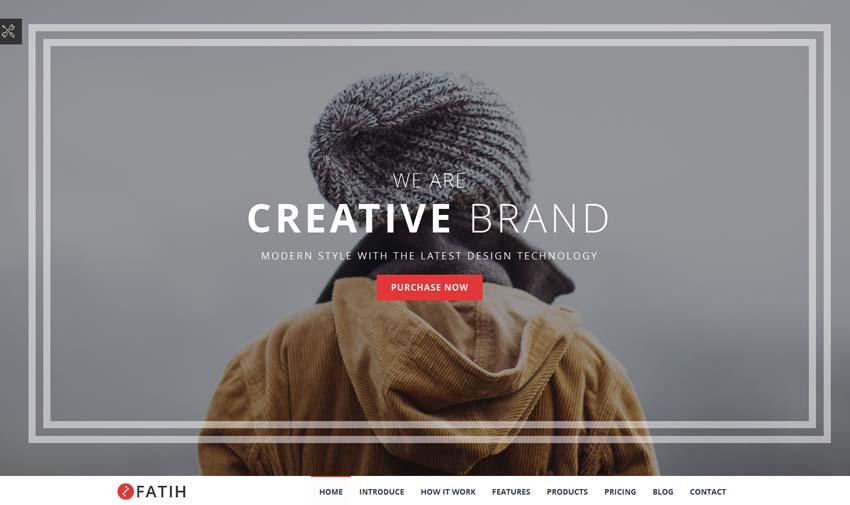 Fatih - Creative landing page template
