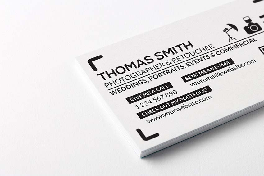 Free Printable Templates For Business Cards - Photography business cards templates free