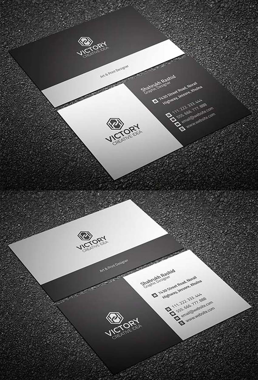 20 free printable templates for business cards graiht corporate business card free reheart Images