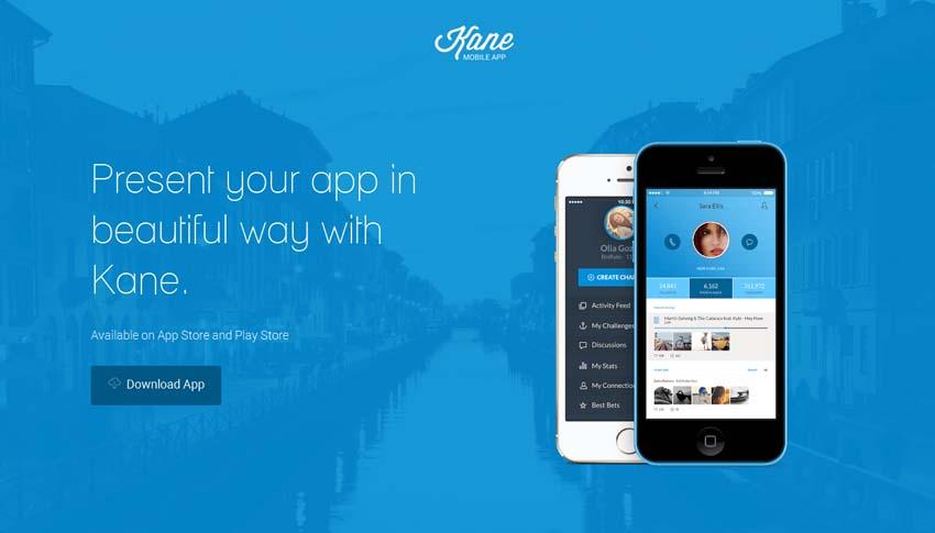 Kane - Responsive App Landing Page