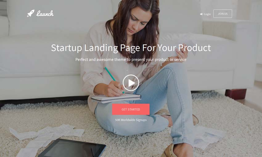 Launch - Startup Landing Page