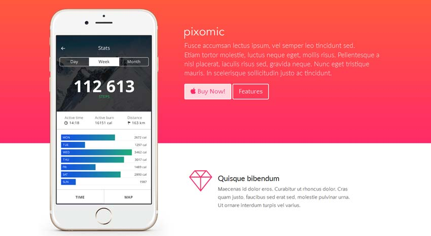 Pixomic - Application Landing Page Template