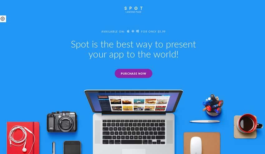 SPOT - App - Service Landing Page