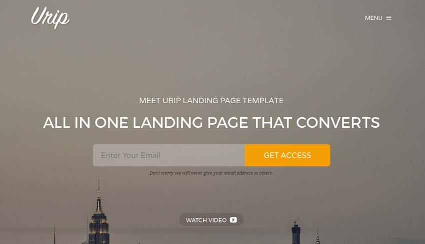 Urip Landing Page Template